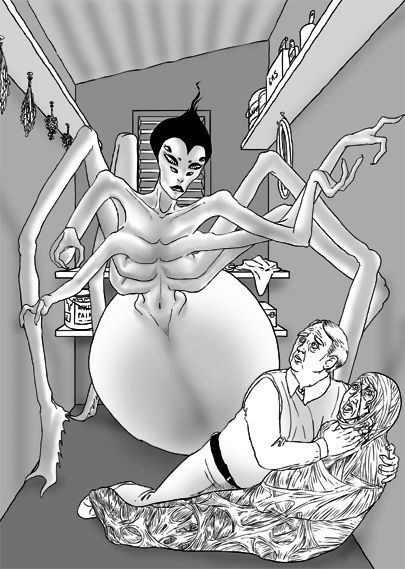 Anthropomorphic Spider by originalnilson