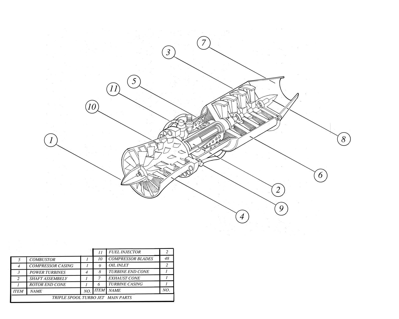 Jet engine parts by hod05 on DeviantArt