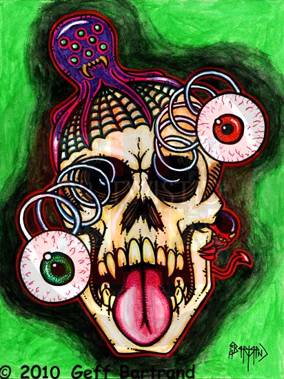 Googlie Eye Skull by Dr-Twistid