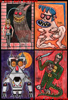 4x6 Cards part 3 by Dr-Twistid