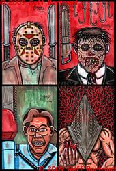 4x6 cards Horror by Dr-Twistid