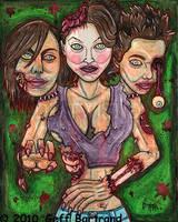 3 Headed Zombie Singer Mutant by Dr-Twistid