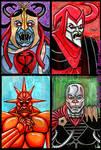 4x6 cards 80s Cartoon Villians