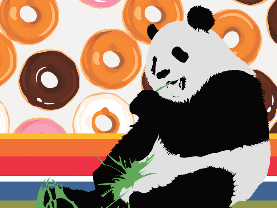 pop art panda by pedodomo on deviantart. Black Bedroom Furniture Sets. Home Design Ideas