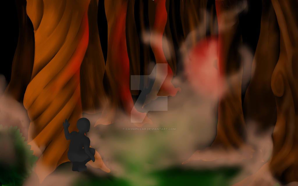 Dark Forest WIP by Cassipillar