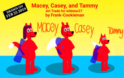 Macey, Casey, and Tammy (Art Trade) by Frank-Cookieman