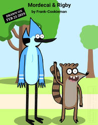 Mordecai and Rigby by Frank-Cookieman