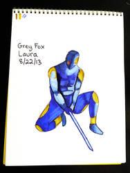 Daily Sketch Challenge: Gray Fox by subatomiclaura