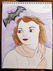 Daily Sketch Challenge: Mina Harker by subatomiclaura