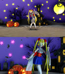 Halloween stage and Bat particle for MMD