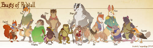 Redwall Size Chart 2018 by mongoosefangs