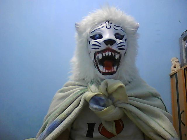 White Lion Mask 1 by kasalieyafet