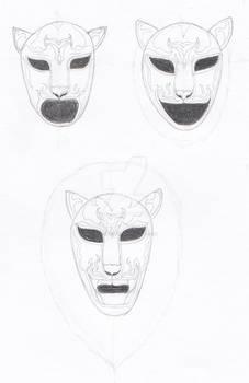 Lion Luchador Masks