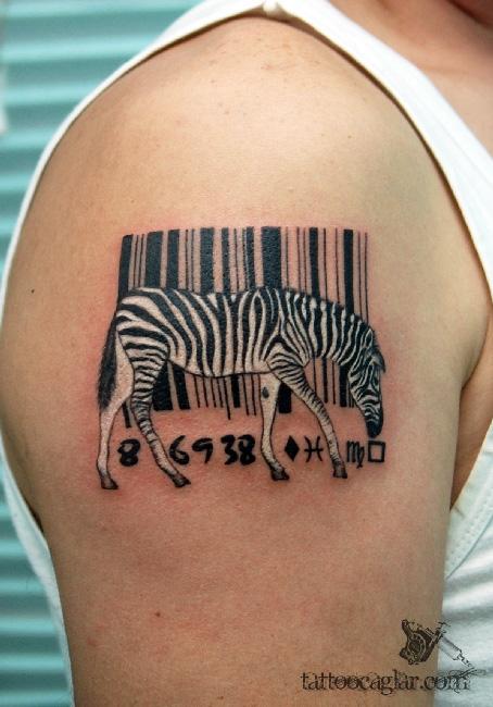zebra barcode by tattoozone