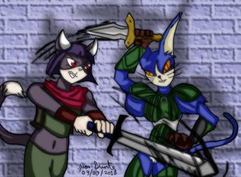 Kitty Blades by DesenhoExperiment