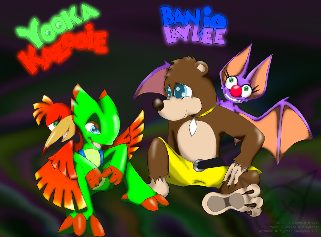 Yookazooie and Banjolaylee by ElectriCatt