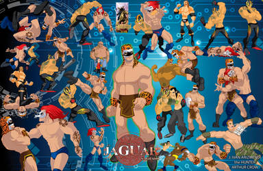 Jaguar Sagrado Lucha Libre By Apocalipsstudio by Apocalipsstudio