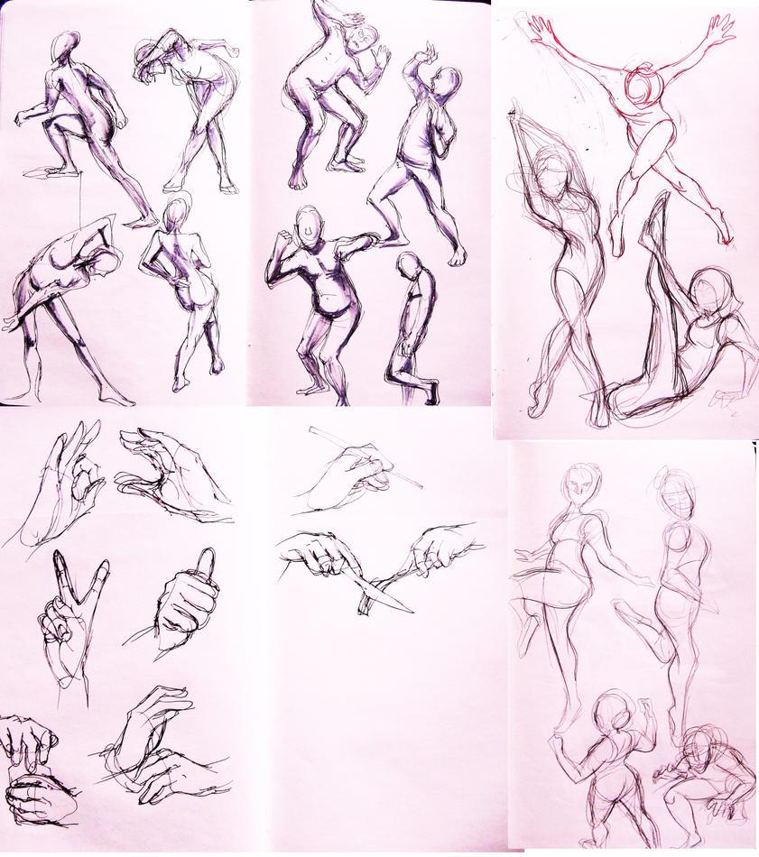 Anatomy practice by Deltamimi on DeviantArt