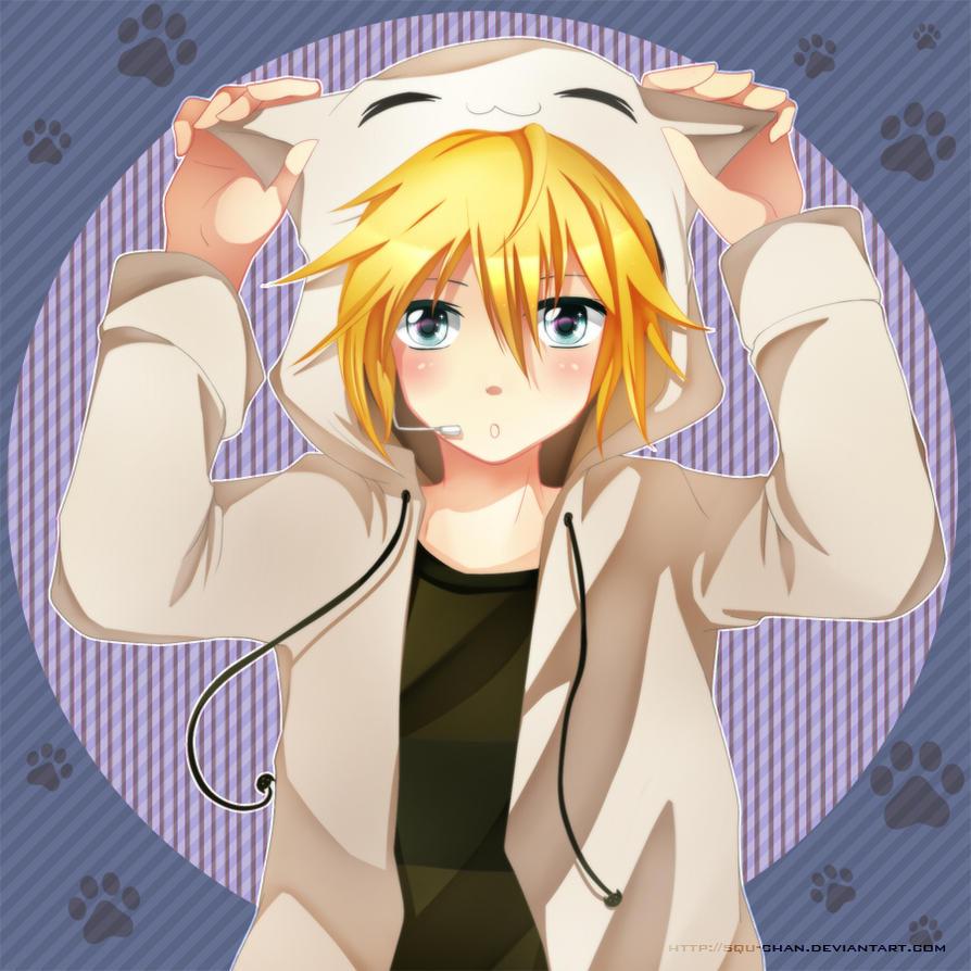Len is a neko by Squ-chan