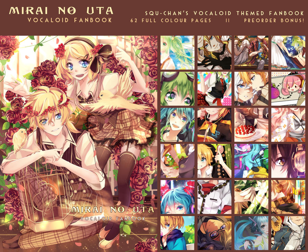Vocaloid Fanbook PREORDER by Squ-chan
