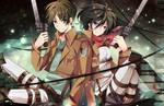 Shingeki no Kyojin - Eren and Mikasa
