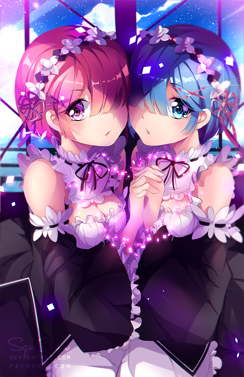 Re:Zero - Ram + Rem by SquChan
