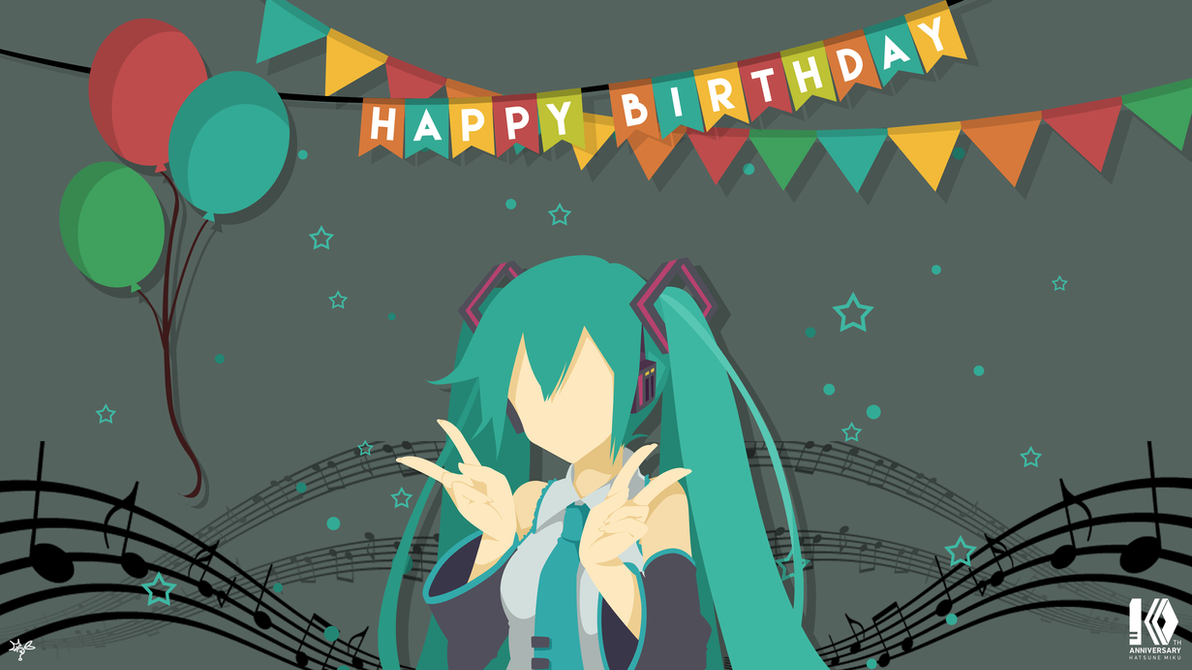 For Miku 10th birthday by xryns01
