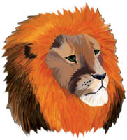 lion head by Borah