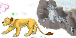Simba . Sketcher doodle 4 by Borah