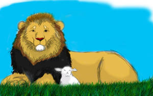 Lion and the Lamb . Sketcher.. by Borah