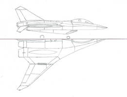 F-55A Parasite Fighter drawing by Venom800TT