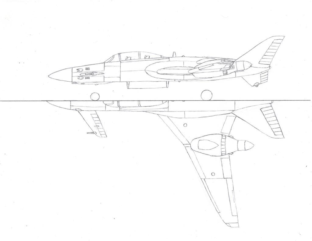 P-74 Night Fighter Drawing by Venom800TT