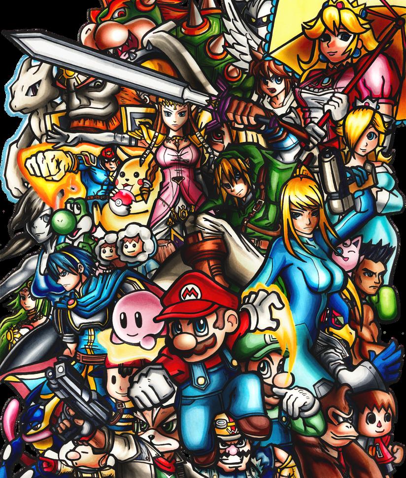 Super Smash Bros. by fastg35