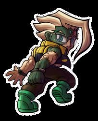 Street Fighter V - Nash Chibi by fastg35
