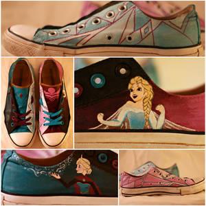 Let It Go Painted Shoes