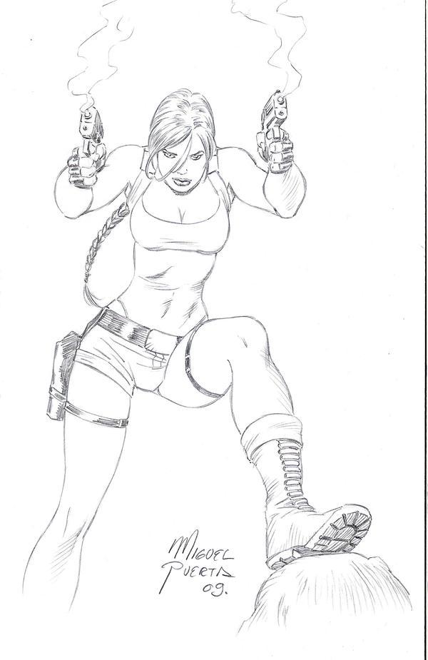 Lara Guns Up by caradura86