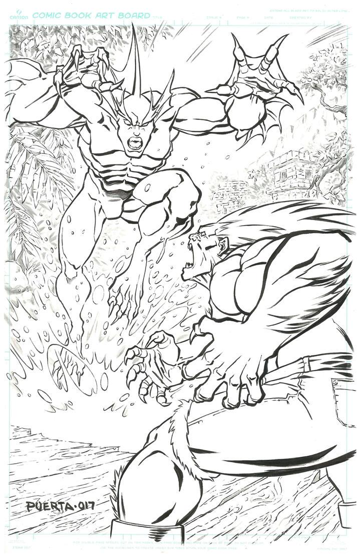 Rikuo vs Blanka by caradura86