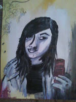 Creepy painting of me by IOwnZombies