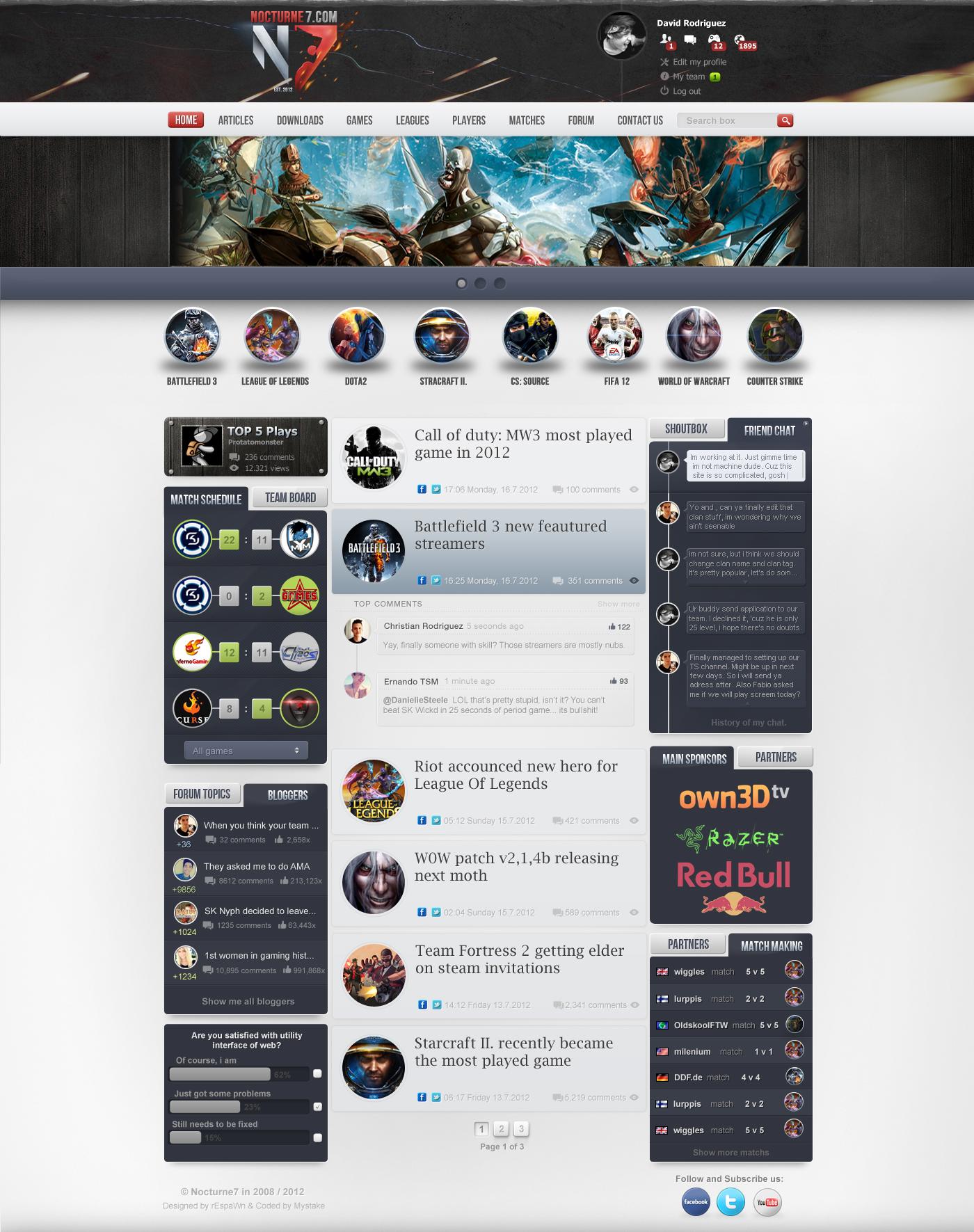 Gaming Nocturne7 webdesign by rEspaWn16 on DeviantArt