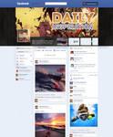 Facebook timeline page redesign