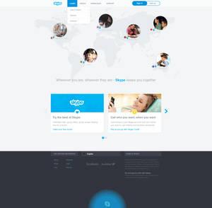 Skype website redesign