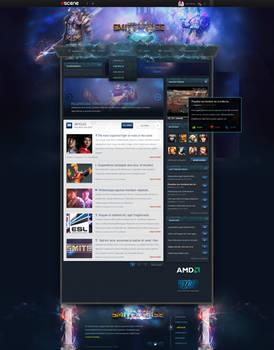 SMITE homepage webdesign