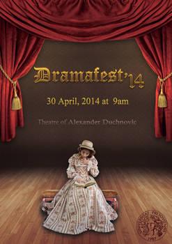 English Dramafest school poster