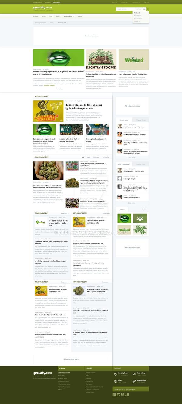 Grasscity website redesign by rEspaWn16