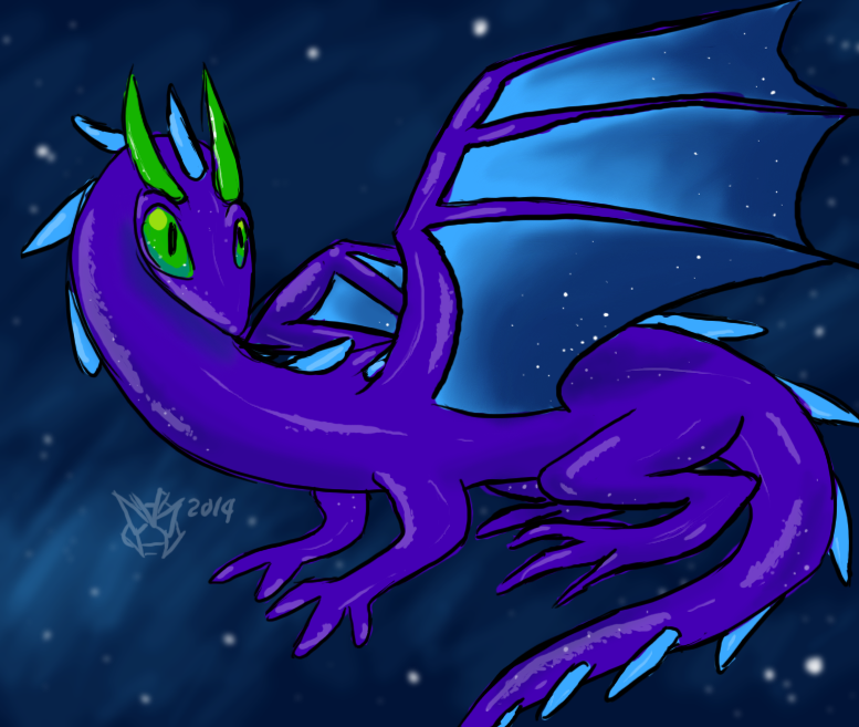Beautiful Space Salamander by AgentWerehog