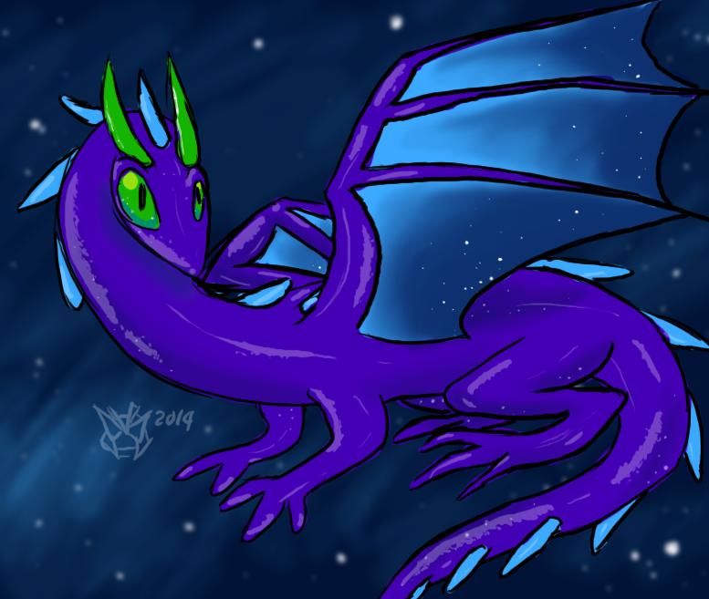 Beautiful Space Salamander by AgentWerehog