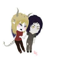 C: Reinel and Nzeyrah by Smol-Squeep