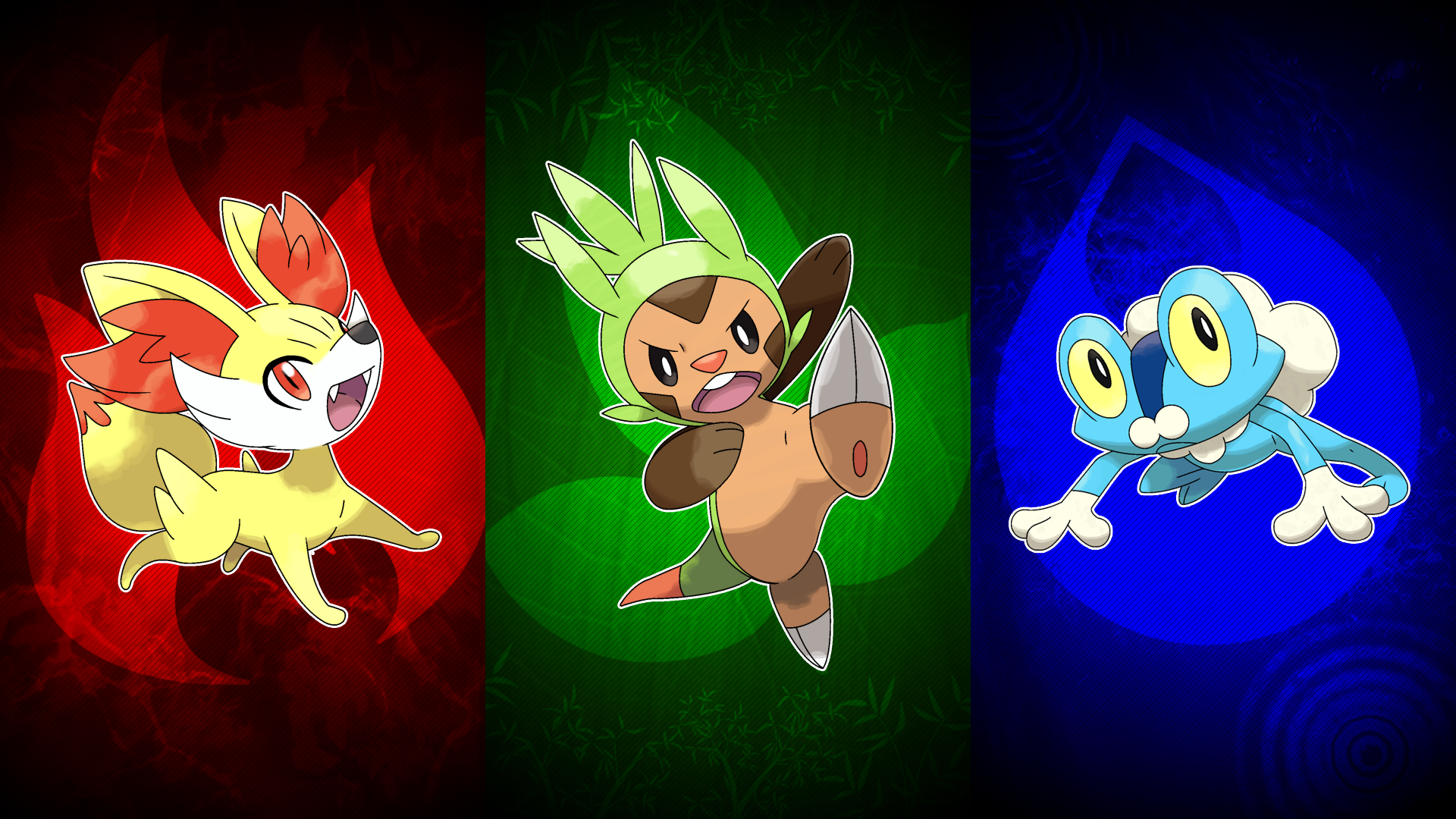 Pokemon X and Y Starters Wallpaper by UnlethalMango on ...