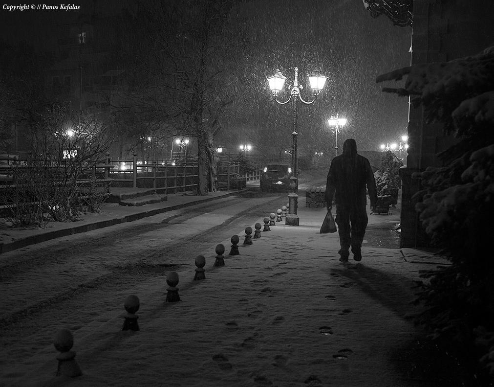 Night Snow by panosozi