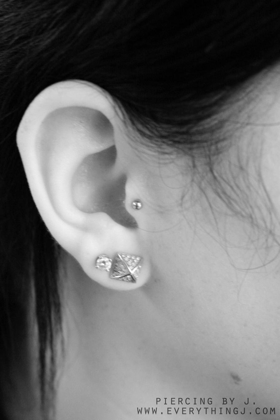 Ear Piercings Tumblr Fresh tragus piercing with a Ear Piercing Tumblr